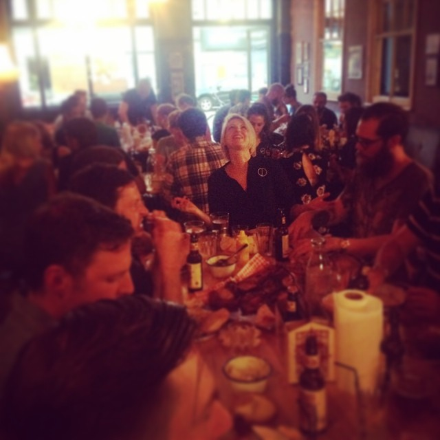 Full house #dirtydining #popup #event #messy #meat #happy #beer #bourbon #bbq